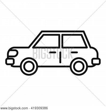 Sedan Car Icon. Outline Sedan Car Vector Icon For Web Design Isolated On White Background