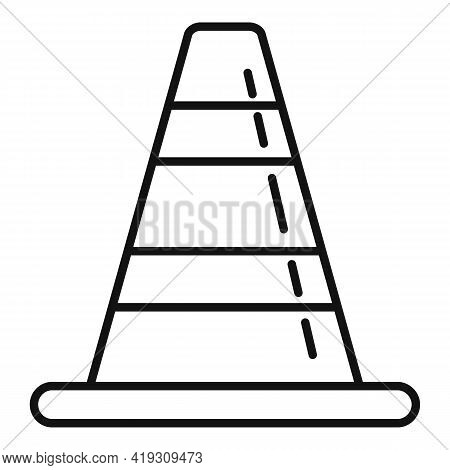 Road Cone Icon. Outline Road Cone Vector Icon For Web Design Isolated On White Background