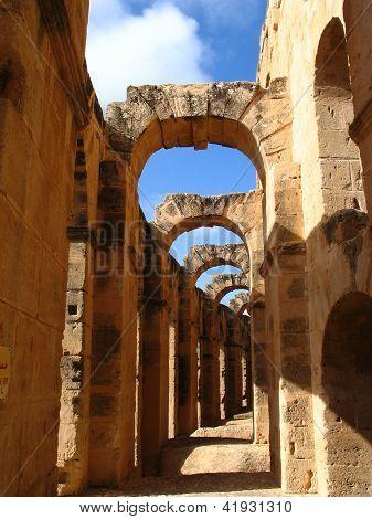 El Jem Amphitheatre In Tunisia