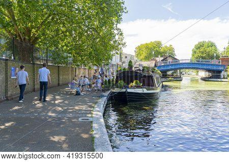 July 2020. London. Canal Boats, Little Venice London England