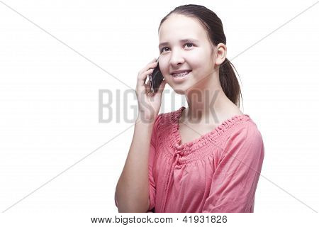 Teen With Mobile Phone