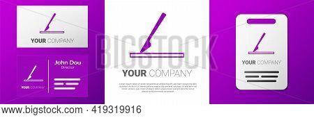 Logotype Medical Surgery Scalpel Tool Icon Isolated On White Background. Medical Instrument. Logo De