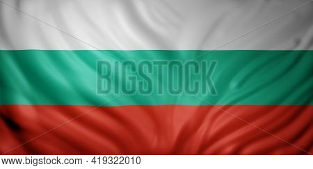 3d Rendering Of A Detail Of A Silked Bulgaria Flag