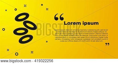Black Medical Hemoglobin Erythrocytes Icon Isolated On Yellow Background. Vector