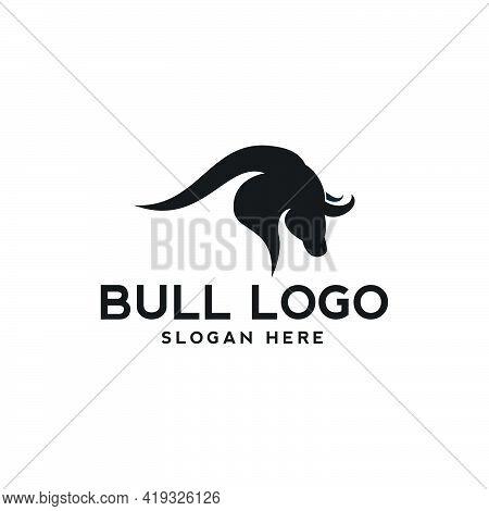Bull Art Logo Design Inspiration Illustration Logo Animal Farm Cattle Modern Simple