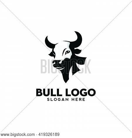 Drawing Art Bull Head Logo Design Illustration Modern Vector,animal Logo,farm Logo,cattle Farm
