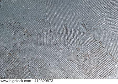 Abstract View Of Hydro Isolation Indoors. Waterproofing Texture. Water Proofing Bathroom Floor. Home