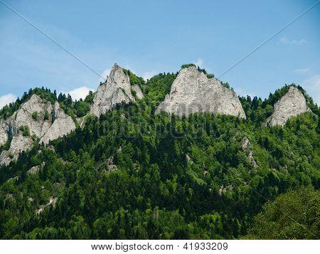 View of Trzy Korony-Pieniny Mountains in Poland poster