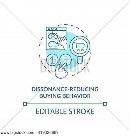 Dissonance-reducing Buying Behavior Concept Icon. Behavior Type Idea Thin Line Illustration. Lesseni
