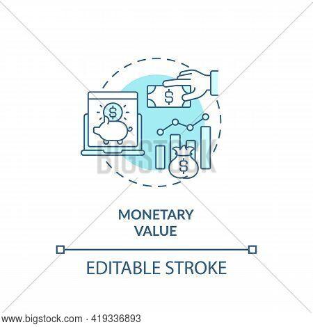 Monetary Value Concept Icon. Rfm Model Analysis Idea Thin Line Illustration. Average Purchase Amount