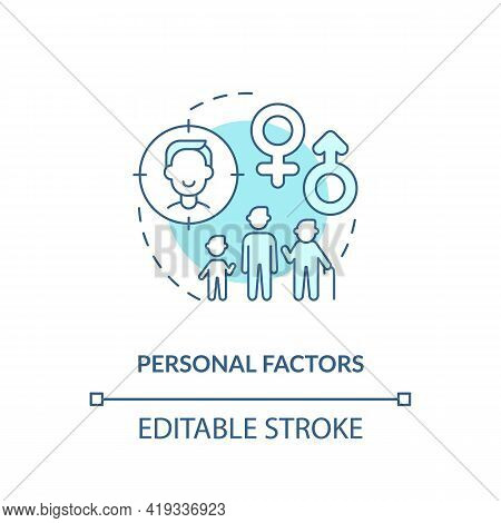 Personal Factors Concept Icon. Purchase Decision Factor Idea Thin Line Illustration. Affecting On Bu