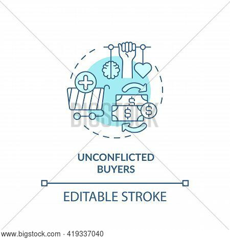 Unconflicted Buyers Concept Icon. Buyer Type Idea Thin Line Illustration. Average Consumer. Making B