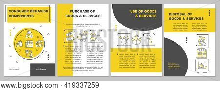 Consumer Behavior Components Brochure Template. Purchase Of Product. Flyer, Booklet, Leaflet Print,