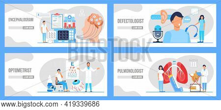 Pulmonologist, Phthisiologist Concept Vector For The Landing Page, Blog. Treatment Of The Prostate I