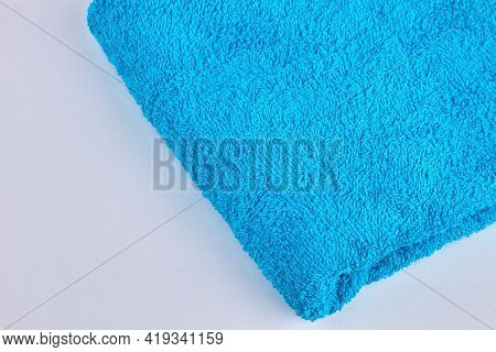 Terry Cloth Towel Isolated On White Background.