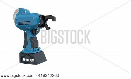 Electric Iron Rod Wire Tier Tool. Isolated Industrial 3d Rendering