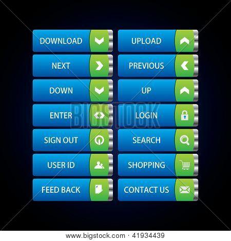 web buttons Theme