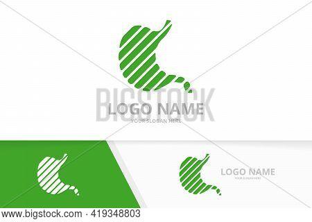 Creative Stomach Logo Design. Gastrointestinal Tract Logotype Design Template.
