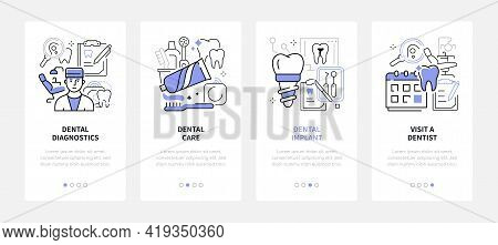 Dental Care - Modern Line Design Style Web Banners