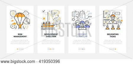 Business And Management - Modern Line Design Style Web Banners
