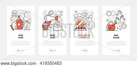 Beauty Salon - Modern Line Design Style Web Banners
