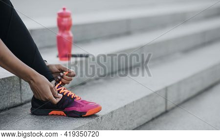 Start Training And Jogging In City In Morning, Wellness And Vitality