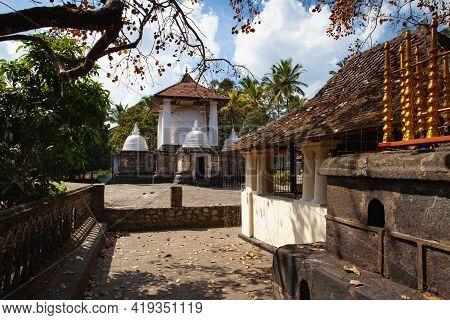 Gadaladenyia Vihara Is An Ancient Buddhist Temple Situated In Pilimathalawa, Kandy, Sri Lanka. Gadal