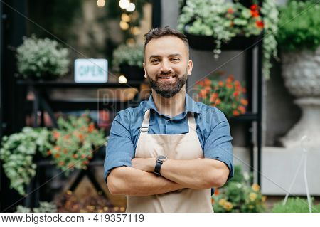 Positive Emotions Of Owner Of Studio, Cafe, Store