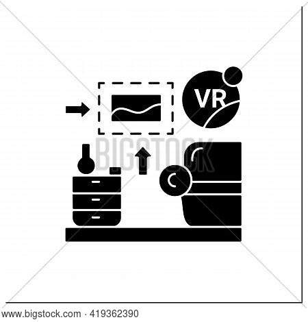 Vr Interior Design Glyph Icon.live Home 3d Is Virtual Reality Design App Creating Virtual Models Of
