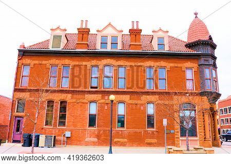 April 26, 2021 In Cheyenne, Wy:  Historical Victorian Mansion Renovated To A Restaurant Taken At The