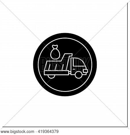 Litter Disposal Symbol Glyph Icon.garbage Collection, Recycling Area. Public Place Navigation. Unive