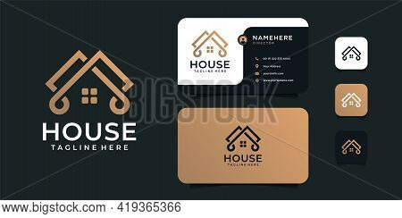 Modern House Building Logo Vector Design Concept For Architecture. Logo Can Be Used For Icon, Brand,