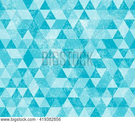 Illustration Teal Triangle Pattern Background That Is Seamless And Repeats 3d Illustration