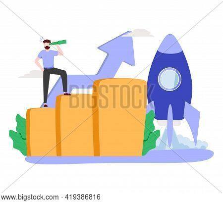 Seo Strategy Abstract Concept Vector Illustration. Mobile Media Optimization, Local Search, Boost In