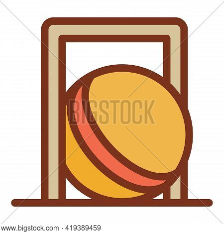 Croquet Ball Gate Icon. Outline Croquet Ball Gate Vector Icon For Web Design Isolated On White Backg
