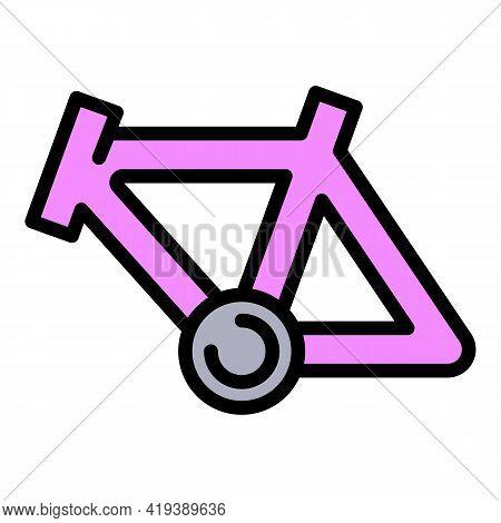 Bike Frame Icon. Outline Bike Frame Vector Icon For Web Design Isolated On White Background