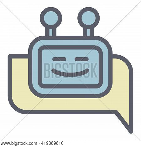 Feedback Chatbot Icon. Outline Feedback Chatbot Vector Icon For Web Design Isolated On White Backgro
