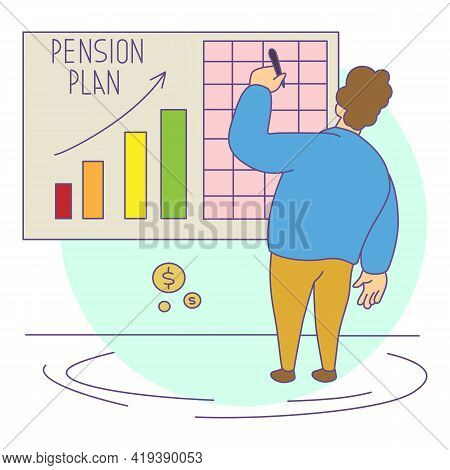 Retirement Plan Icon. Cartoon And Flat Of Retirement Plan Vector Icon For Web Design Isolated On Whi