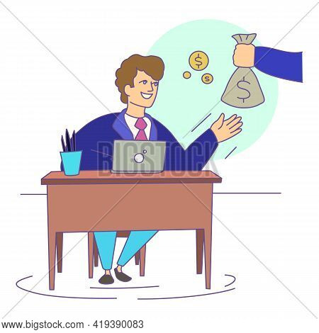 Work Compensation Icon. Cartoon And Flat Of Work Compensation Vector Icon For Web Design Isolated On