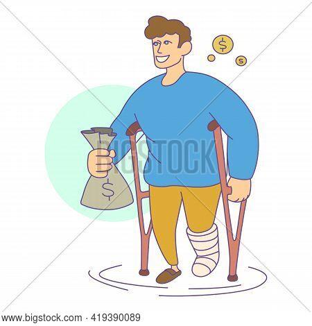 Health Insurance Money Icon. Cartoon And Flat Of Health Insurance Money Vector Icon For Web Design I