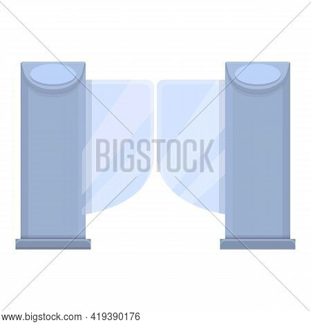 Security Smart Gate Icon. Cartoon And Flat Of Security Smart Gate Vector Icon For Web Design Isolate