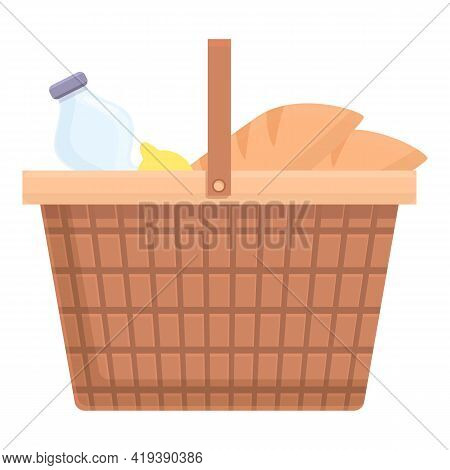 Weekend Basket Icon. Cartoon And Flat Of Weekend Basket Vector Icon For Web Design Isolated On White