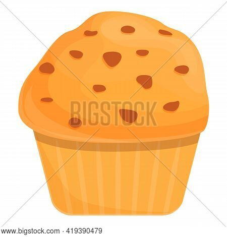 Muffin Icon. Cartoon And Flat Of Muffin Vector Icon For Web Design Isolated On White Background