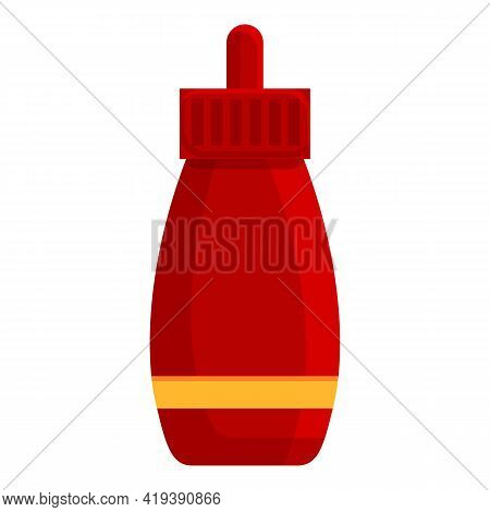 Barbecue Ketchup Icon. Cartoon And Flat Of Barbecue Ketchup Vector Icon For Web Design Isolated On W