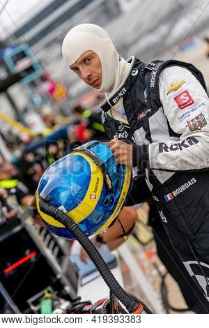 May 01, 2021 - Ft. Worth, Texas, USA: SEBASTIEN BOURDAIS (14) of Le Mans, France prepares to practice for the Genesys 300 at the Texas Motor Speedway in Ft. Worth, Texas.