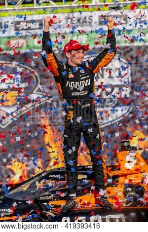May 02, 2021 - Ft. Worth, Texas, USA: PATO OWARD (5) of Monterey, Mexico wins the EXPEL 375 at the Texas Motor Speedway in Ft. Worth, Texas.