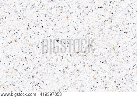 Terrazzo Floor Seamless Pattern. Consist Of Marble, Stone, Concrete And Polished Smooth To Produce T