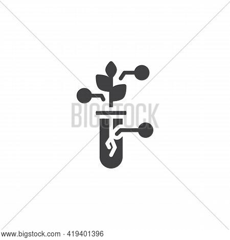 Agricultural Laboratory Research Vector Icon. Filled Flat Sign For Mobile Concept And Web Design. Cr
