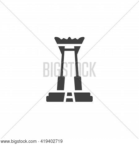Thai Temple Vector Icon. Filled Flat Sign For Mobile Concept And Web Design. Buddhist Temple Glyph I