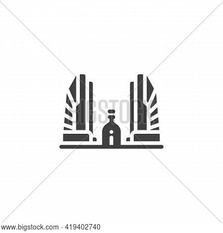 Buddhist Temple Vector Icon. Filled Flat Sign For Mobile Concept And Web Design. Thailand Temple Gly